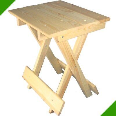 Klapphocker Holz Angelhocker Sitz klappbarer Hocker Campinghocker Beistell Tisch