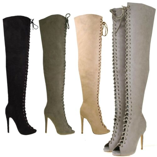 womens high stiletto heel the knee thigh high