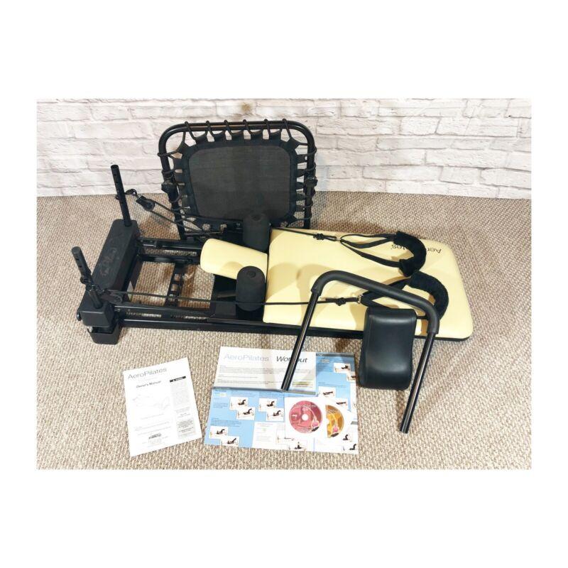 AeroPilates Reformer Plus Exercise Machine With Cardio Rebounder (Beige & Black)