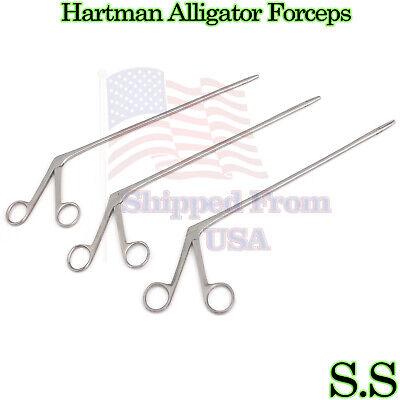 3 Hartman Alligator Ear Forceps Serrated 12 14 18 Surgical Instruments