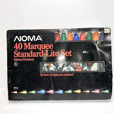 """Vintage NOMA Marquee 40 Lights In Motion Indoor Outdoor Decor 26 Ft -""""AS IS"""""""