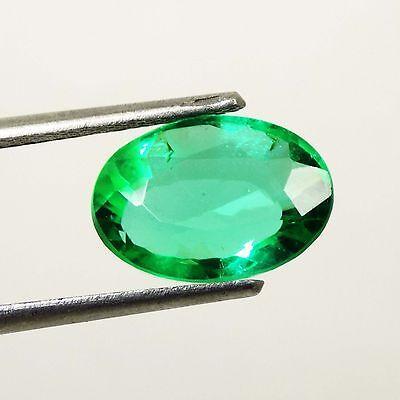 4.30 Ct Natural Oval Cut Beautiful Colombian Green Emerald Gemstone