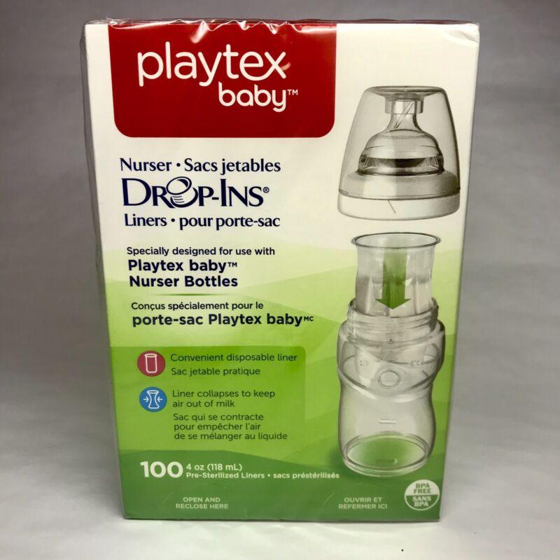 👶 Playtex Baby Nurser Bottle Drop-Ins 100/ 4oz PreSterilized Liners BPA Free 🍼