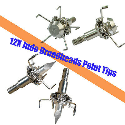 Judo Broadheads 5 Short Claws Head 100gr Hunting Small Game Bow Arrow Point Tips