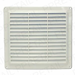 ★WHITE★LOUVRE AIR VENTS★Small/Large Ventilation Ducting Brick Wall Grille Cover
