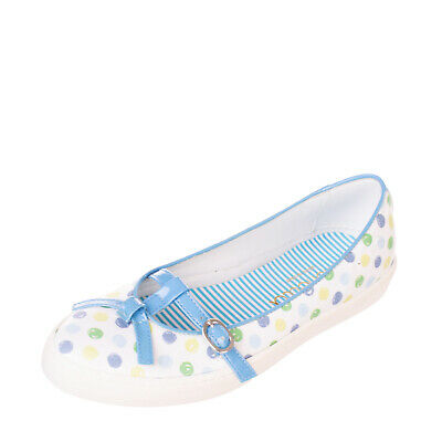 RRP €160 SIMONETTA Leather Ballerina Flats EU 37 UK 4.5 US 5.5 Polka Dot Pattern