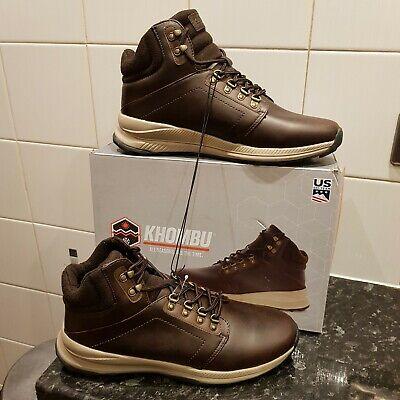 Mens Khombu Leather Waterproof Hiking Walking Outdoor Boots All Seasons UK 12