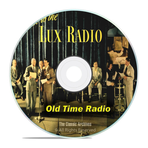 LUX RADIO THEATER, 1,369 Old Time Radio Drama Episodes, COMPLETE SET OTR DVD G52