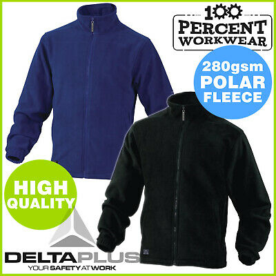 Best High Quality Mens Polar Fleece Jacket Coat Outdoor Hiking Work Warm (Best Outdoor Work Jacket)