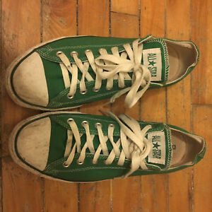 Converse green size 11 45 shoes