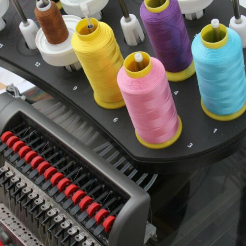 POLYESTER MACHINE EMBROIDERY THREAD   HUGE 5000M (5500 YARD) CONES