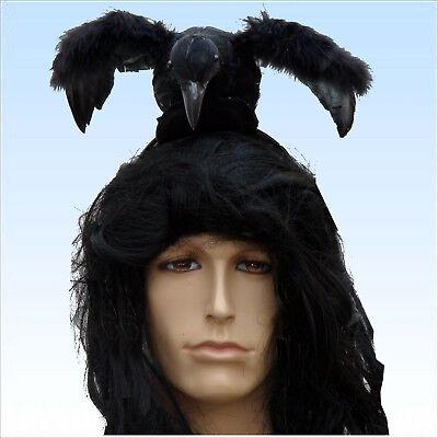 Halloween-kostüme, Schwarze Haare (Schwarze Krähe mit Haarreif für Hexen Lone Halloween Kostüme oder Ranger)