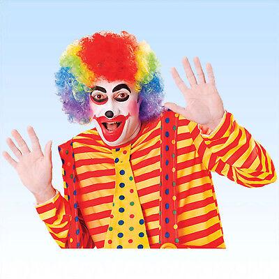 Bunte Perücke Clown Clownsperücke Harlekin Spassmacher Perücken Lockenperücke