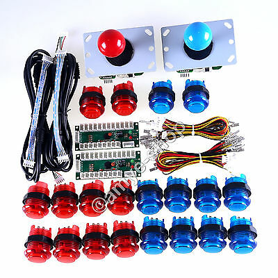 2 Player LED Arcade Game DIY Parts for MAME & Raspberry Pi RetroPie DIY Projects