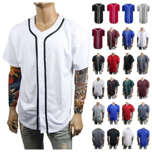 Men Baseball Jersey Plain Raglan T- Shirt Sports Active Hipster Jersey & Jacket