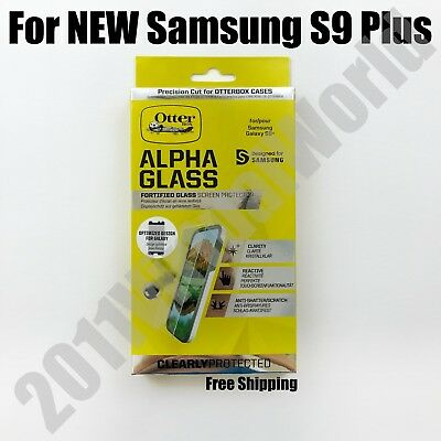 Genuine OtterBox Alpha Glass Series Screen Protector for Samsung Galaxy S9 Plus