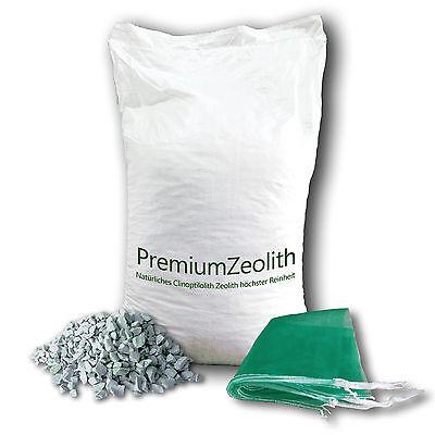 ZEOLITH 25 kg 2,5-5 mm +2 Filtersäcke Filtermaterial Filtermedium Phosphatbinder