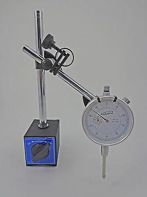 iGaging Magnetic Base with Dial Test Indicator Fine Adjustment 176#  80kg Magnet