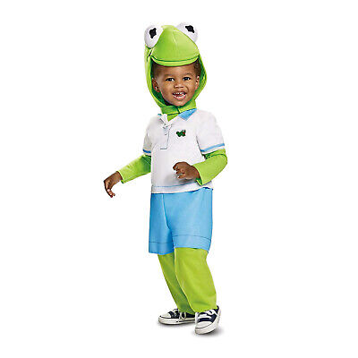 Boys Muppet Babies Kermit The Frog Halloween Costume Baby Toddler 12-18 2T 3T 4T