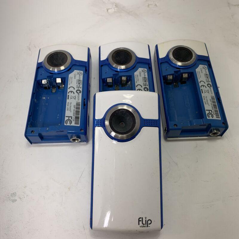 Lot Of 4 Cisco Flip Video Cameras For Parts Pieces Or Repair U260