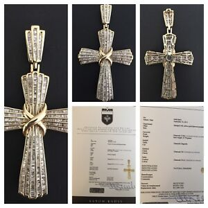 14k gold cross pendant with diamond comes w appraisal