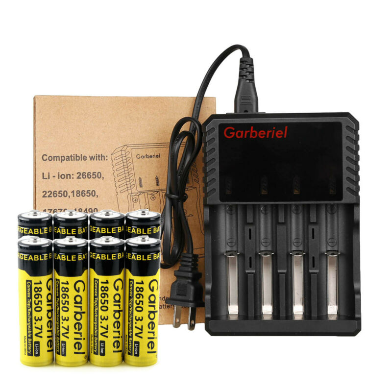Lot 18650 Battery 3.7V Li-ion Rechargeable Charger For LED Flashlight Torch US