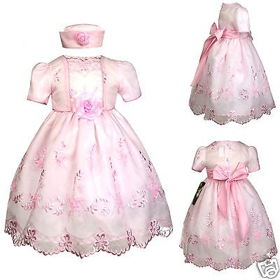 New Baby Girl Toddler Pink Dresses Wedding Prom Easter Formal Party sz: S M L XL](Easter Girl Dresses)