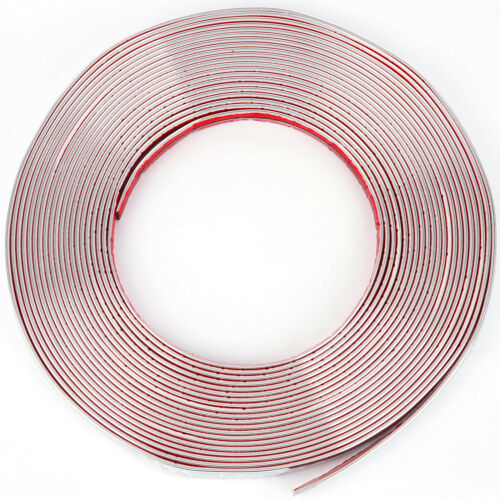 12mm x 5 meter Chrom Zierleiste Leisten Chromleiste Selbstklebend Flexibel Kunststoff Tuning