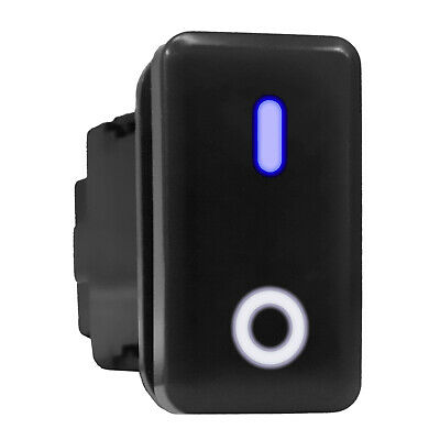 On Off Bluewhite Led Backlit Switch Tall Push Button 1.54x 0.83 Fit Toyota