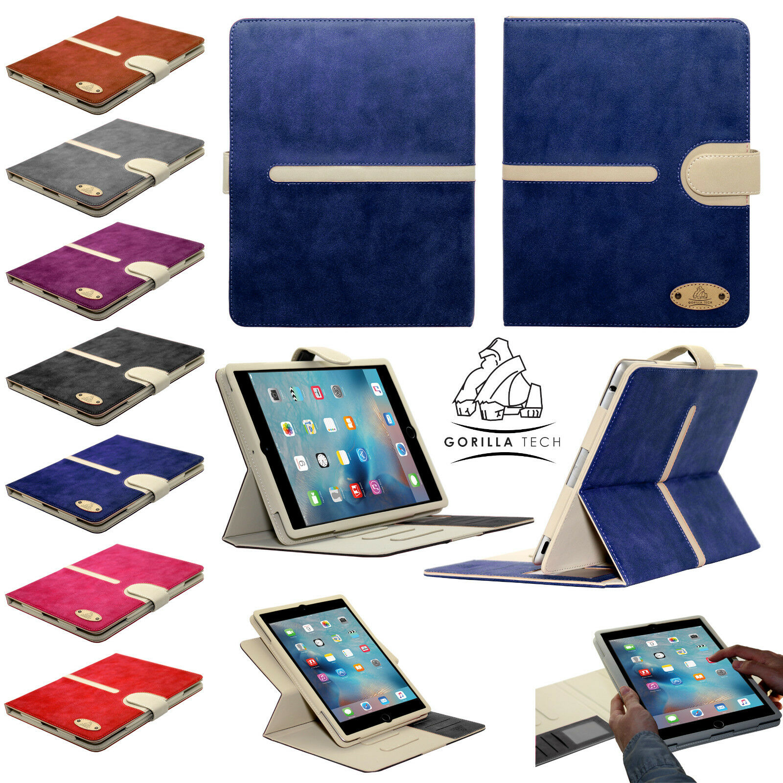 suede leather wallet flip case for apple