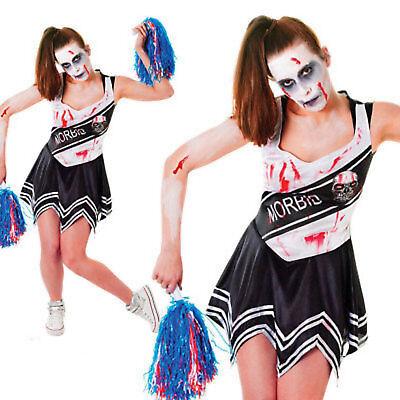 Sexy Halloween Adulto Disfraces Disfraz para Dama Zombie Cheerleader