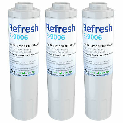 Refresh Replacement Water Filter - Fits Amana ABD2533DES Refrigerators (3 Pack) Amana Replacement Water Filters