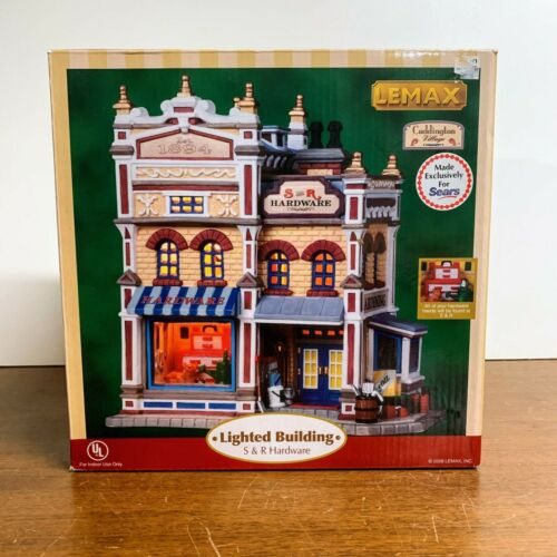 Lemax Village Collection Lighted Building S & R Hardware 2008 with Box