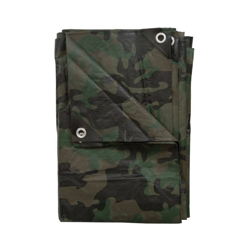 STANSPORT RIPSTOP TARP COVER 6 MIL THICK WOODLAND CAMO CAMPING OUTDOOR NEW