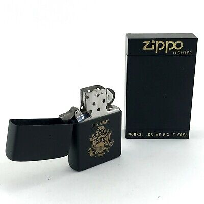 Zippo US Army Lighter Unstruck in Box 1984