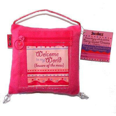 """SMACKERS* 5x5"""" BERRY SWEET DREAMS 2004 Collection DECORATIVE PILLOW Balm Storage"""