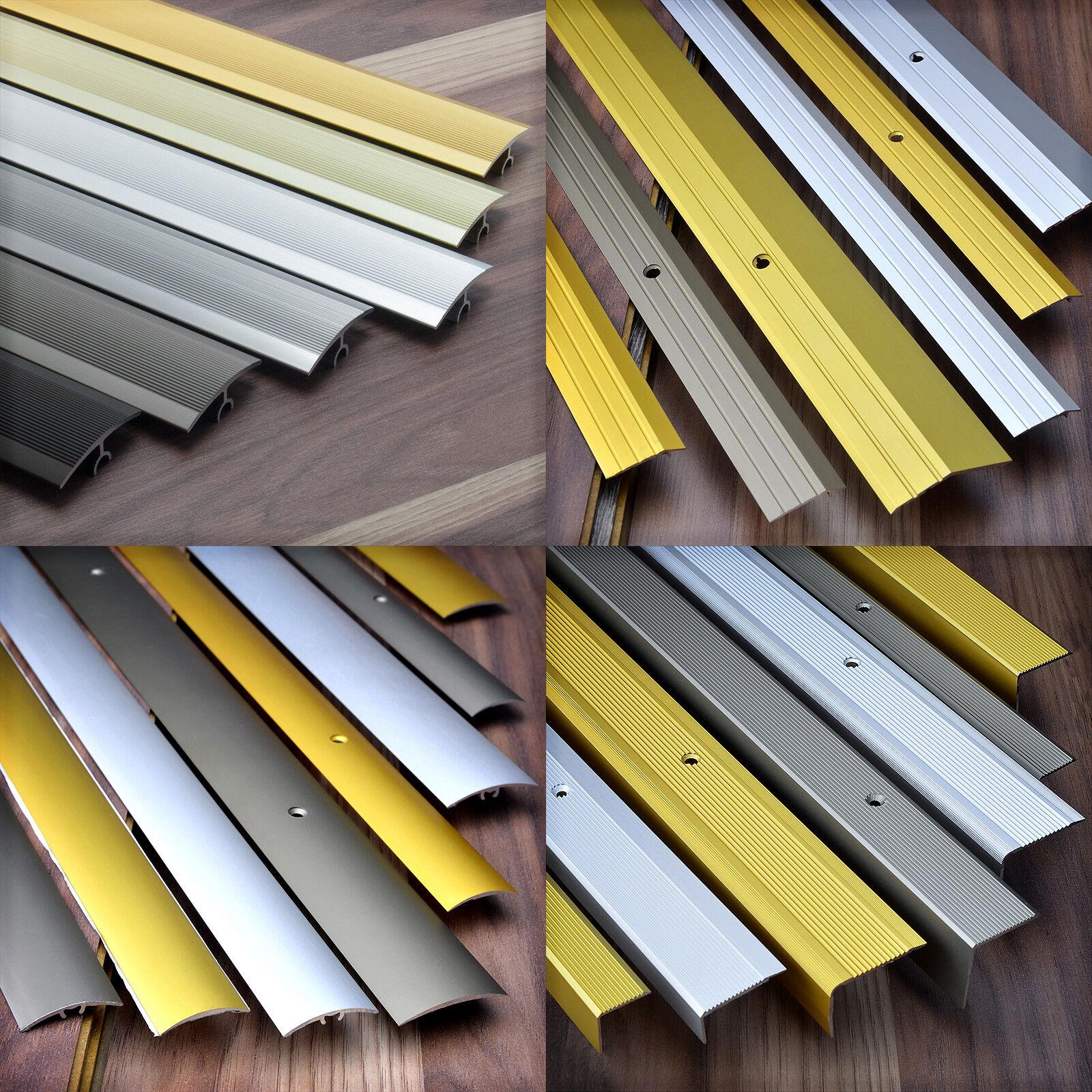 Aluprofil 1m - 2m Übergangsprofil Ausgleichprofil Winkel Boden Aluminium Profile