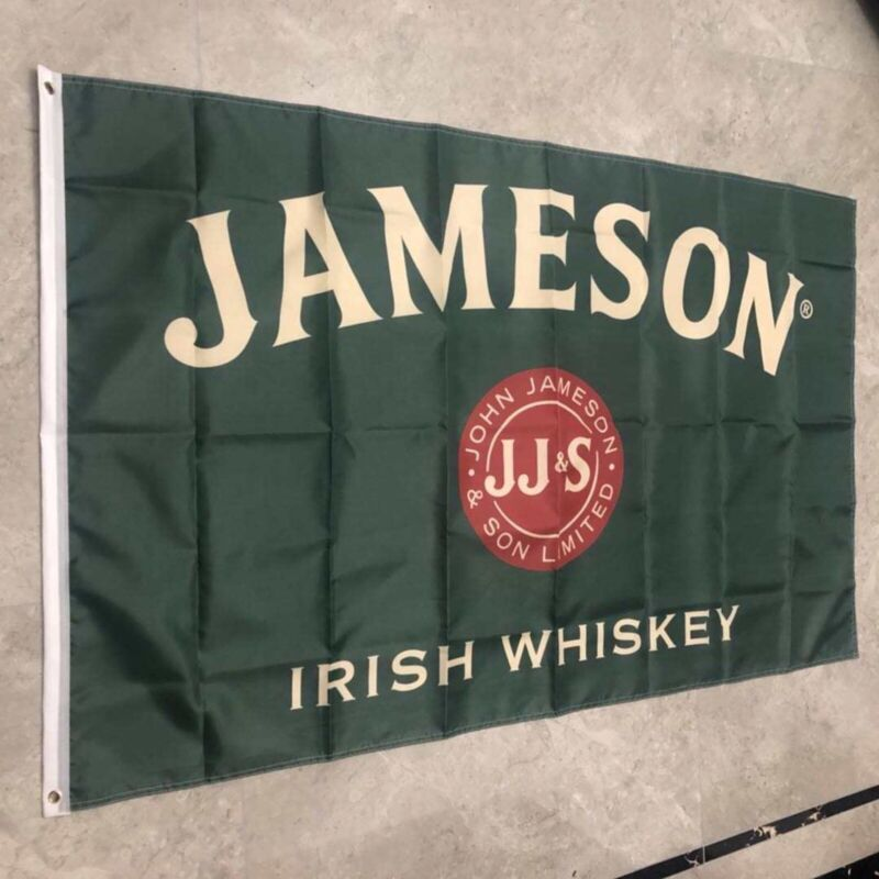 Jameson Irish Whiskey Flag Banner 3X5 Ft Great For Man Cave Woman Cave Bar