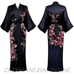 100% SILK KIMONO handpainted wrap robe long (More Colors) (HPKML)