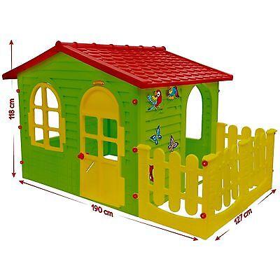 XXL Riesiges SPIELHAUS für Kinder Kinderhaus Zaun Gartenhaus Kinderspielhaus