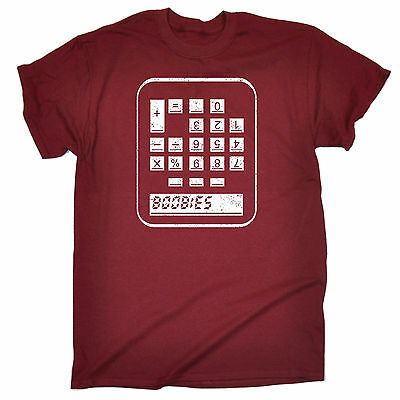 BOOBIES CALCULATOR T-SHIRT tee maths funny birthday gift 123t present for him (Boobies Calculator)