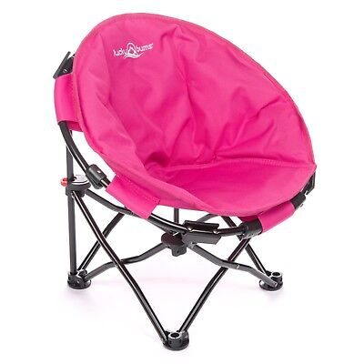 luckybums - Moon Camp Chair for Kids & Carrying Case- Pink