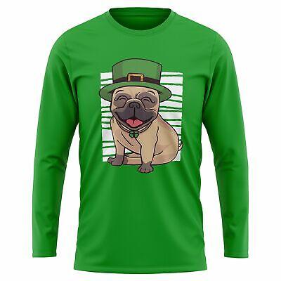 Pug St Patricks Day Long Sleeve Tshirt Ireland - St Patricks Outfits