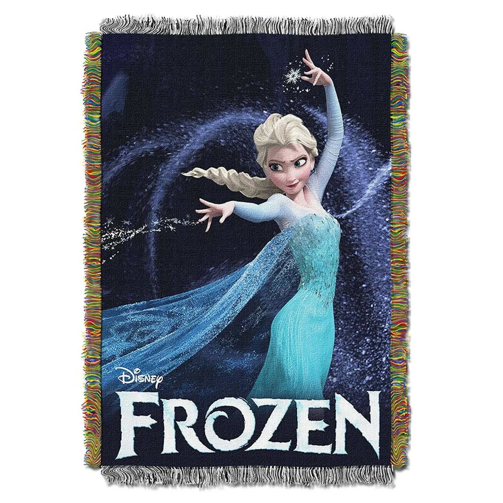 "Disney's Frozen, ""Queen of Ice"" Woven Tapestry Throw Blanket"