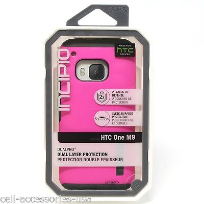 New Incipio DualPro Dual Layer dLAST Impact Absorbing case for HTC One M9 - Pink