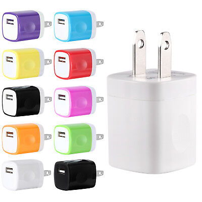 USB Wall Charger AC Home Power Adapter US Plug For iPhone 6 7 8 X Samsung LG -