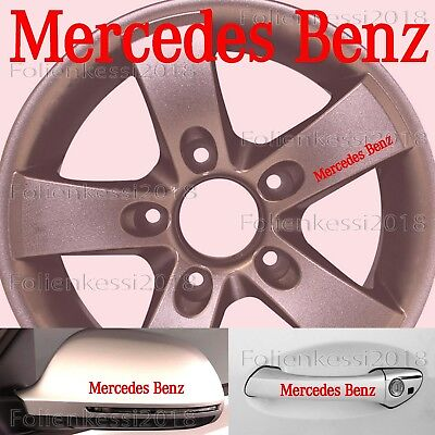 Mercedes Benz  6 Aufkleber Türgriff Felge etc. 100 x 13 mm -30 Farben-