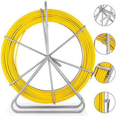 8mm 100m328ft Fish Tape Fiberglass Wire Cable Running Rod Duct Rodder Puller