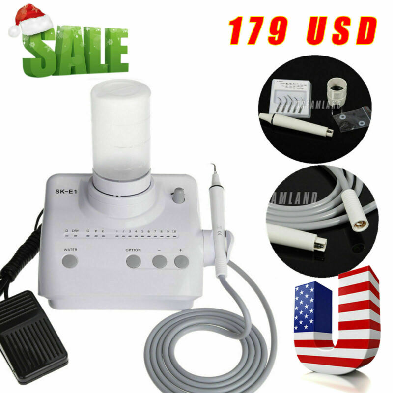 Endo Perio Scaling Dental Ultrasonic Scaler with Handpiece + 2*Bottles for EMS