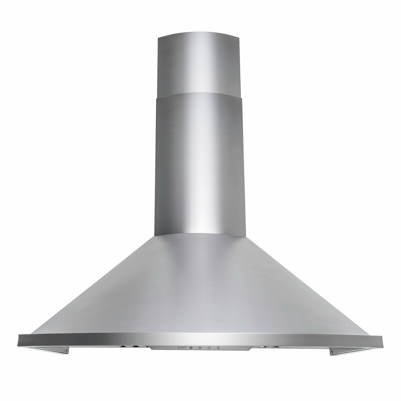 "30"" Wall Mount Brushed Stainless Steel Range Hood Push Button Kitchen Stove Vent"